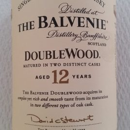 バルヴェニー 12年 ダブルウッド、40%
